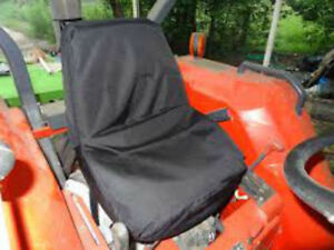 Kubota Tractor One Piece Seat Cover in Waterproof Endura Black