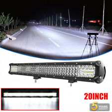 QUAD Row 20Inch 1600W LED Light Bar Flood Spot Offroad Car Truck Driving Lamp 22
