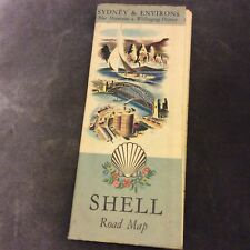 Vintage Shell Road Map - Sydney & Environs