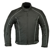 Motorcycle Motorbike Waterproof CE Armoured Cordura winter Jacket Black