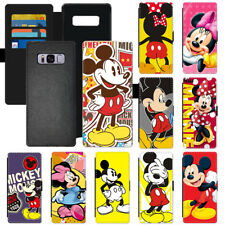 Hot Cartoon Mickey Mouse Popular Wallet Phone Case Cover For Apple Samsung LG