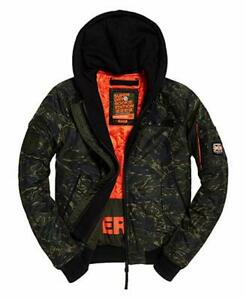 Giacca bomber uomo SUPERDRY rookie flight bomber green camo