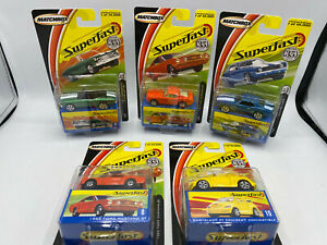 Matchbox Superfast 1/64 Diecast Lot 9 Chevy Chevelle 7 Camaro 8 Ford Mustang