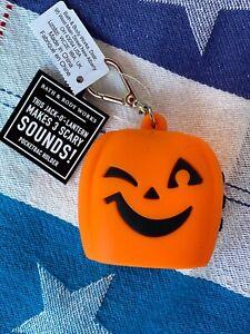 Bath & Body Works Halloween Pumpkin Lantern Sound  Holder Keychain Pocket *bac