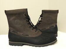 Polo Ralph Lauren WHITSAND Waxy Pull up Pony Suede Leather Boots Snow Shoes 14