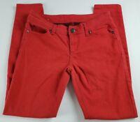 rue21 Womens Jeans Sz 3 4 Skinny Low Rise Red Denim Pants