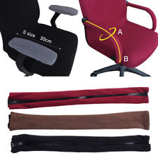 1pair Computer Chair Armrest Covers Elastic Protector Zipper Armchair Arm Cover