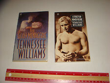 2 Books by Tennessee Williams Streetcar Desire + Glass Menagerie  2 play scripts