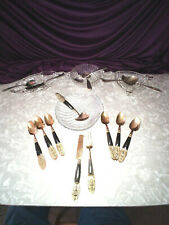 EAPB RODGERS BRDS SILVER WARE AND MORE RELISH DISHES HORS D'OEUVRE SETS