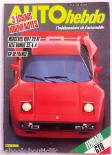 AUTO HEBDO n°421 du 24/5/1984; Alfa Roméo 33.4x4/ Mercedes 190 E 23.16/ Ferrari