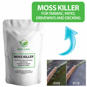 Moss Killer for Tarmac, Patio, Driveways and Decking. MAKES 40 LITRES!