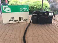 Vintage Flash Fujica Auto Focus 35-mm Film Camera With Fujinon 1:2.8 Tested