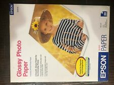 "Original EPSON Glossy Photo Paper S041141 - 8.5""x11"" - (20 Sheets)"