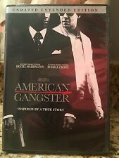 American Gangster Unrated Extended Edition DVD, Denzel Washington, Case/DVD~GUC