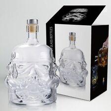 Storm Trooper Decanter Star Wars White Soldier High Boron Glass Liquor Bottle