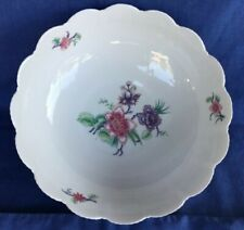 "A. Giraud Brousseau Limoges 8"" SERVING BOWL Shell w Pink & Purple Flowers RIKE"
