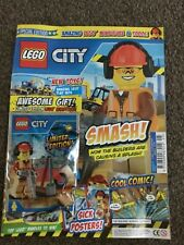 NEW THE LEGO CITY SPECIAL LIMITED EDN MAGAZINE #2 builder minifigure