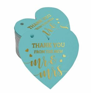 Inkdotpot Real Gold Foil Thank You From The New Wedding Tag Favor-ZmW