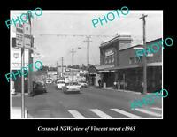 OLD POSTCARD SIZE PHOTO OF CESSNOCK NSW VIEW OF VINCENT STREET c1965