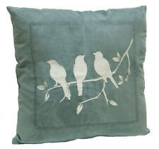 Litecraft Grey Cushion with Silver Bird Embroidery Clearance Home Decor Bedding