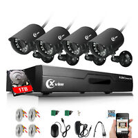 XVIM 8CH 720P Outdoor Weatherproof Security Camera System CCTV DVR with 1TB HDD