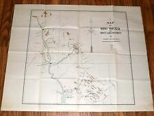 VERY RARE Historic Mining Claims Map - Big Bend & Trout Lake, BC, Canada - c1898
