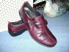 ROMIKA Burgundy wine  Leather Slip On Ankle Bootie Loafers sz 8 / 39
