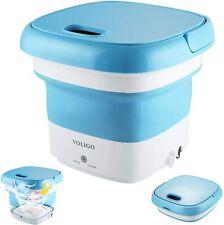 Mini Foldable Washing Machine Compact Portable Laundry Washer Blue
