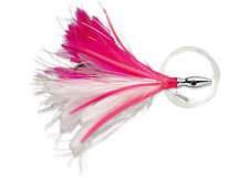 Williamson Flash Feather , Pink / White, 5 Inch