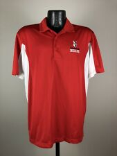 Men's Sport Tek Indianapolis Indians Red Short-Sleeve Baseball Polo Large