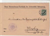Germany 1925 Wurzburg Slogan Cancel & Official Stamps Cover ref 22943