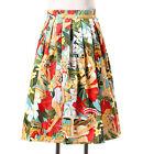 high waist retro vintage style 1950s 60s Housewife circle skirt black plus sizes