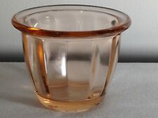 "1 Vintage Pink Depression Glass Ramekin Paneled 2 1/2"" tall"