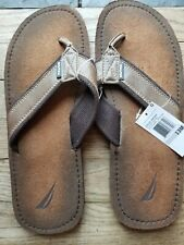 Nautica Flip Flops Mens Brown Size 13