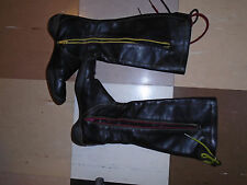 Camper black leather knee high boots with laces size 5