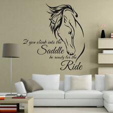 Horse Head Bedroom kids silouette Living Room Wall Art Vinyl Decal Sticker V30