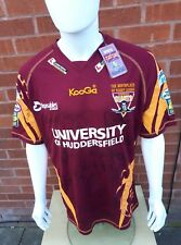 Huddersfield Giants Rugby League Home Shirt Signed NWT Size Large 2010