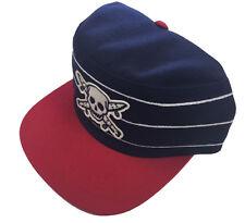 Fourstar Skateboards Pirate Skull Pillbox sample snapback cap hat Blue one size