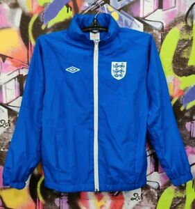 England Soccer National Team Football Longsleeve Jacket Jersey Umbro Youth L