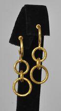 Gurhan 24K Yellow Gold Hanging Hoop Earrings Hoopla  $2750 Sale
