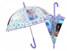PERLETTI Transparent Kuppel-Schirm Stockschirm Kinder Regenschirm,©Disney FROZEN