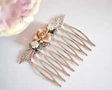 Crystal hair Comb Silver Wedding Bridal Vintage Style Hair Accessories Kitsch