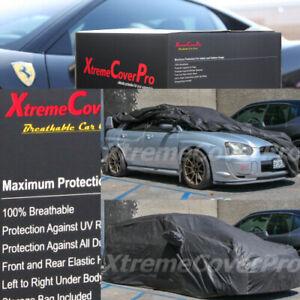 2015 SUBARU WRX STi w/ STi SPOILER Breathable Car Cover w/Mirror Pockets - Black