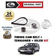 FOR VOLVO V70 D3 D4 D5 2000--> 2.4 TDi 20V TIMING CAM BELT + TENSIONERS KIT