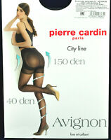 🔲New PIERRE CARDIN pantyhose tights 150 Den Black Size 4 Large France