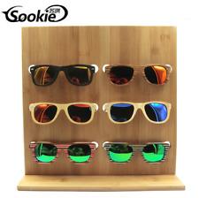 6 Pairs Wooden Sunglasses Eye Glasses Display Rack Stand Holder Organizer Hot
