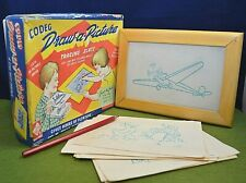 Vintage Game Draw a Picture Tracing Slate Codeg Toy Complete Educational