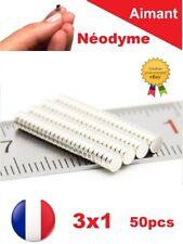 Lot 50 Aimants Neodyme NdFeB Puissant N35  3x1mm : Photo, Fimo, Scrapbooking...