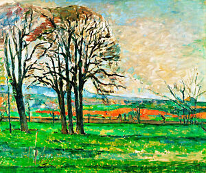 The Bare Trees at Jas de Bouffan A2+ by Paul Cezanne High Quality Canvas Print