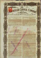 The Pensinsular Copper Company Limited dd 1882 London GB / UK